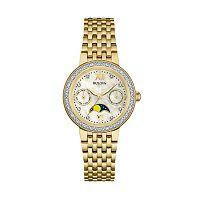 Bulova Women's Diamond Stainless Steel Moon Phase Watch - 98R224