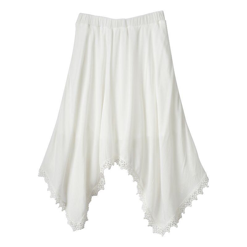 Girls 7-16 Speechless Crochet Sharkbite Skirt