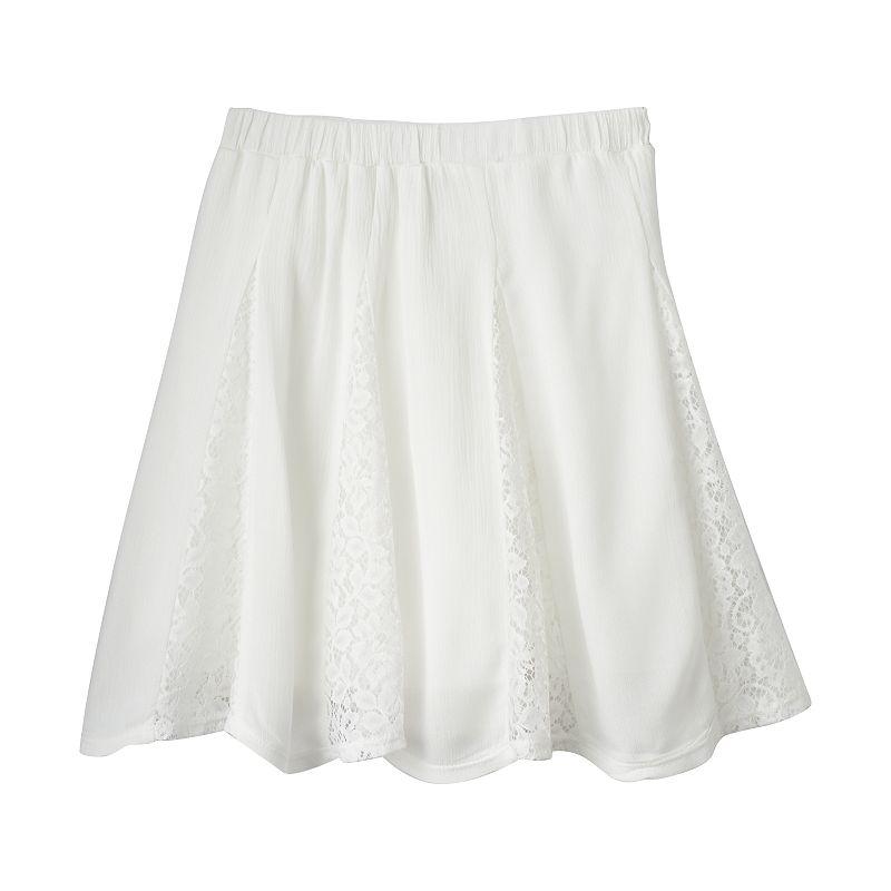 Girls 7-16 Speechless Scalloped Gauze Skirt