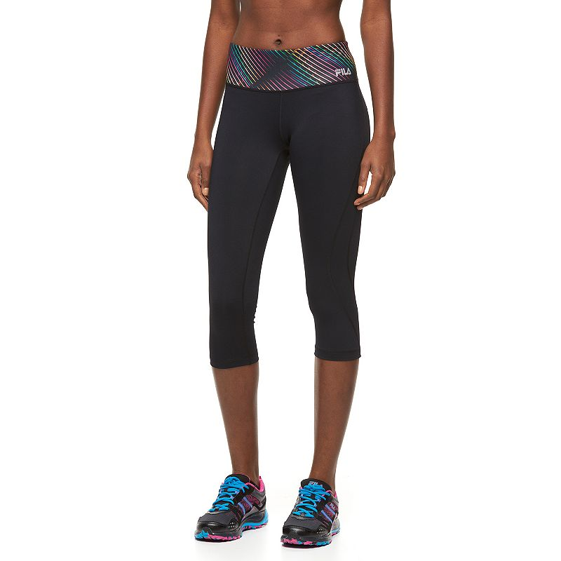 Women's FILA SPORT® Jasmine Printed Capri Running Tights