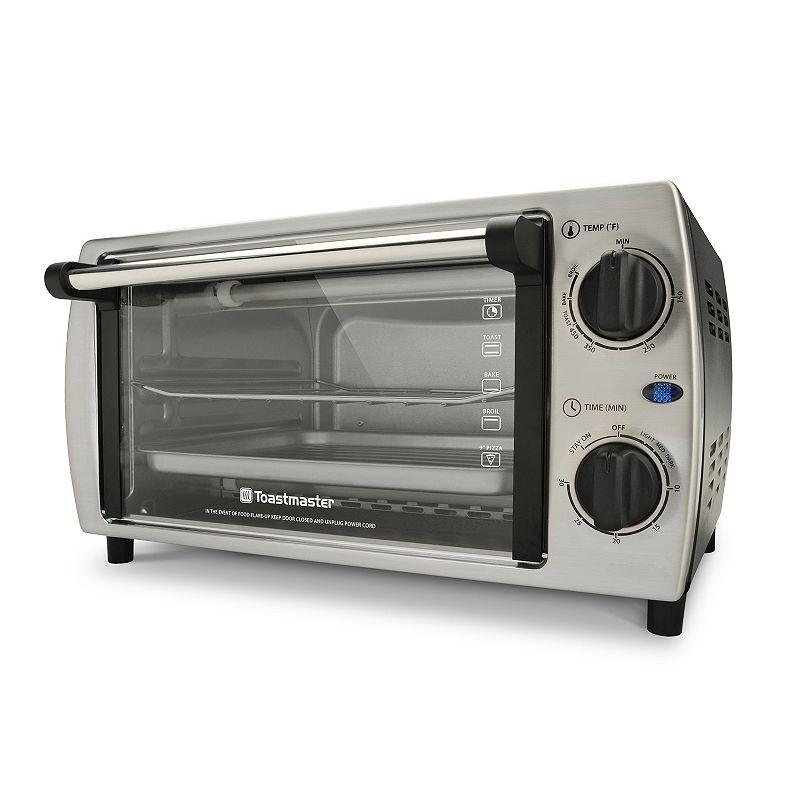 Toastmaster 4-Slice Bake, Broil & Toast Stainless Steel Toaster Oven