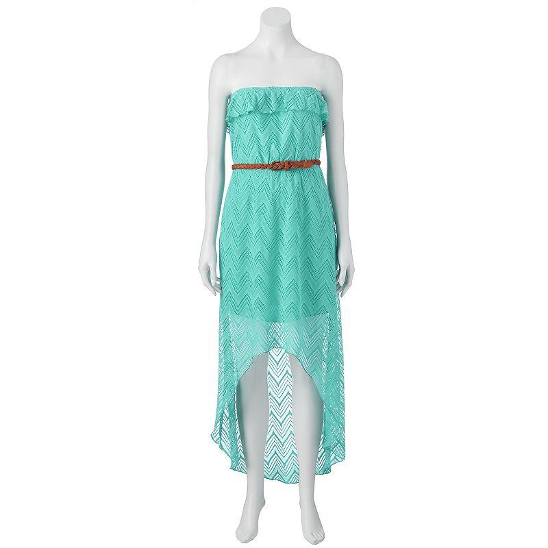 Juniors' Trixxi Strapless High-Low Maxi Dress