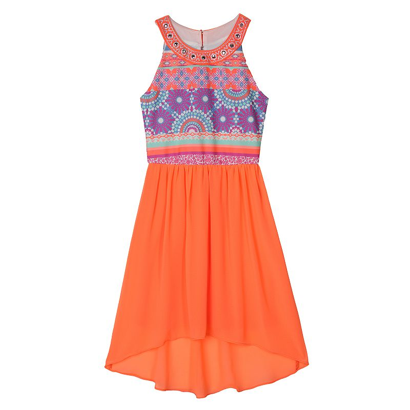Girls 7-16 IZ Amy Byer High-Low Halter Dress