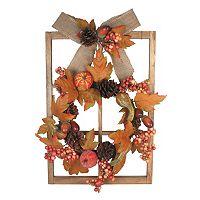 Celebrate Fall Together LED Harvest Window Frame Wall Decor