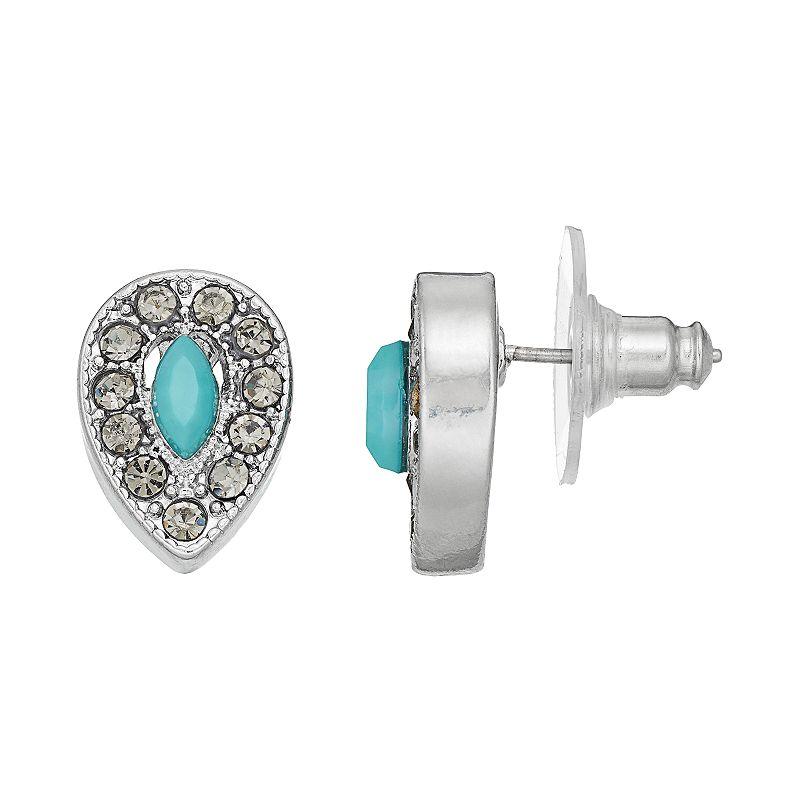 Simply Vera Vera Wang Blue Teardrop Stud Earrings