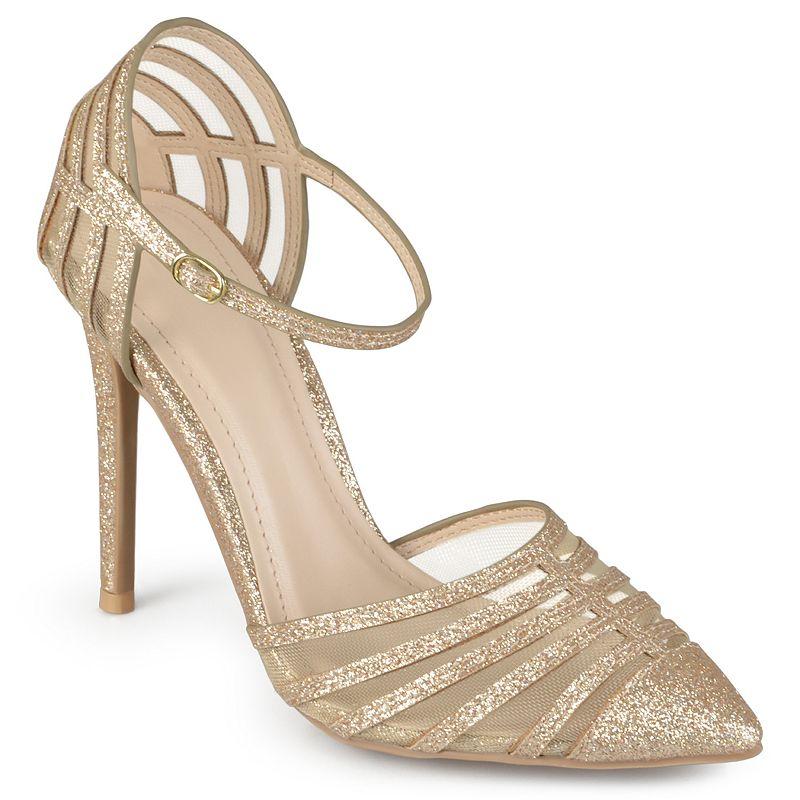 Journee Collection Fancy Women's Mesh High Heels