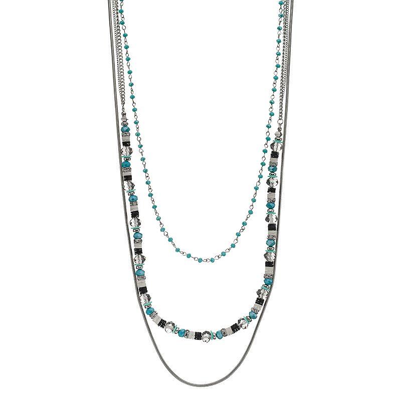 Simply Vera Vera Wang Beaded Layered Necklace