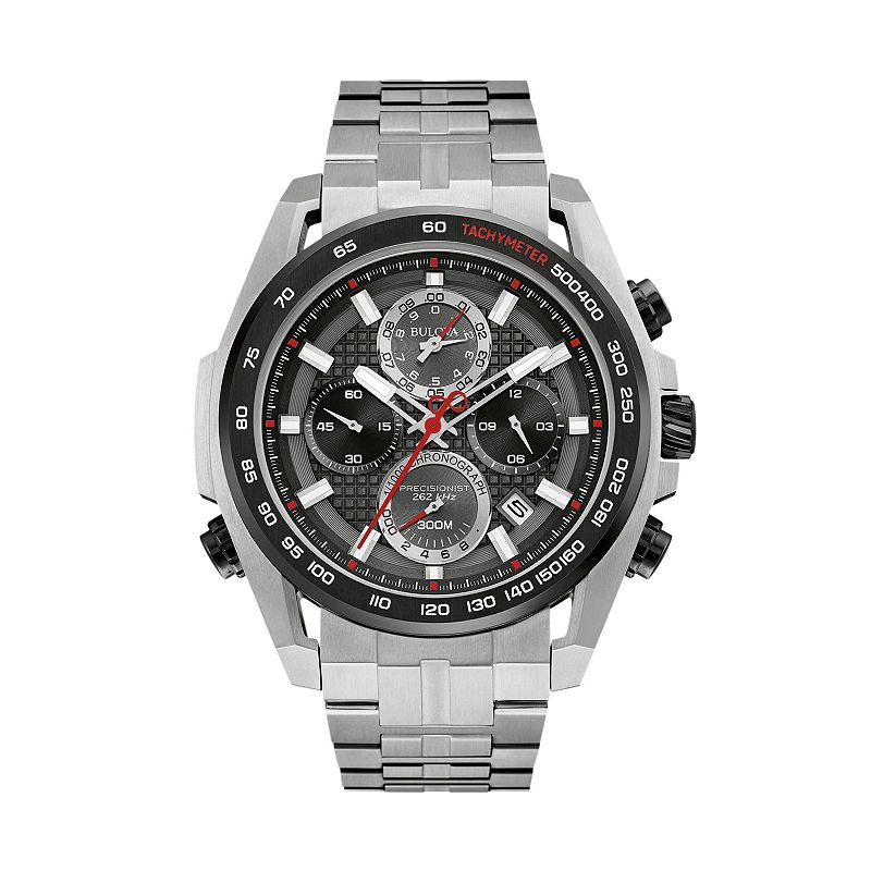 Bulova Men's Precisionist Ultrahigh Frequency Stainless Steel Chronograph Watch - 98B270