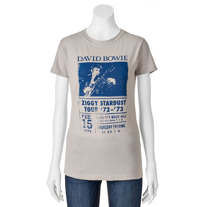 Juniors' David Bowie Ziggy Stardust Tour T-Shirt
