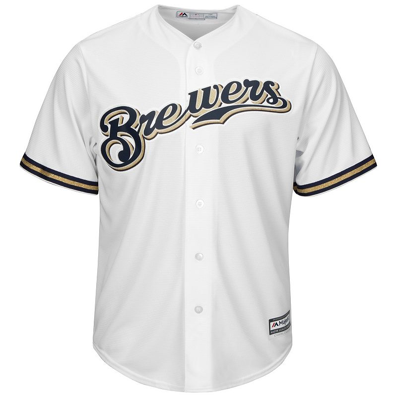 Big & Tall Majestic Milwaukee Brewers Cool Base Replica Jersey
