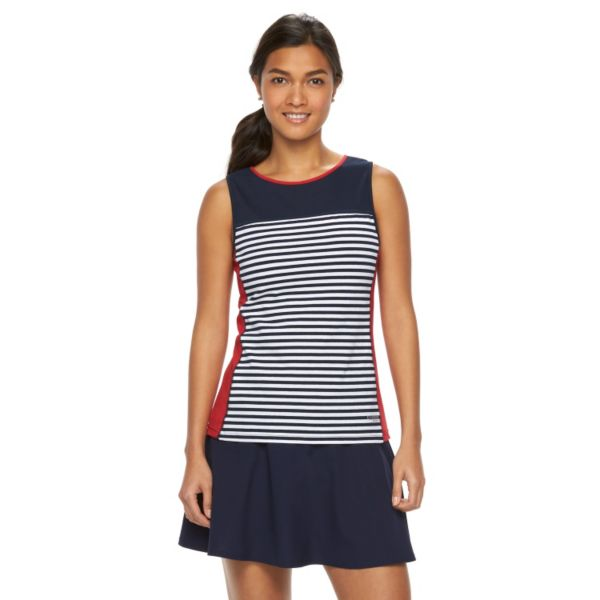 Women's Chaps SPORT Striped Crewneck Tank