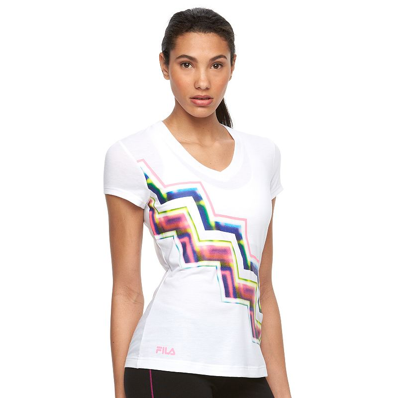 Women's FILA SPORT® Diagonal Chevron Workout Tee