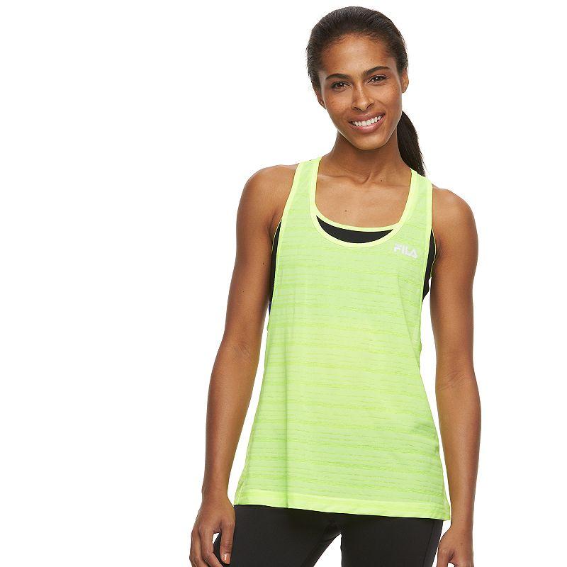 Women's FILA SPORT® Exposure Colorblock Two-Fer Workout Tank