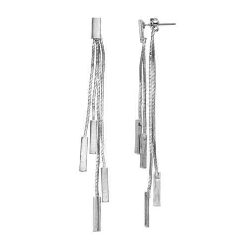 Mudd® Front-Back Linear Bar Drop Earrings