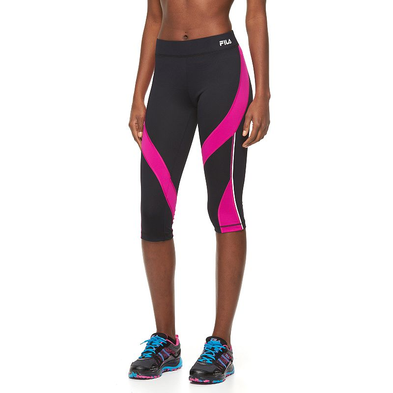 Women's FILA SPORT® Oval Colorblock Capri Running Tights