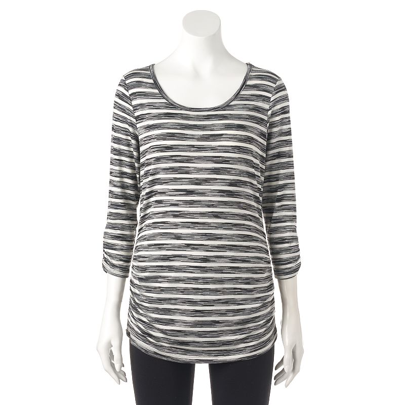 Women's AB Studio Ruched Stripe Tee