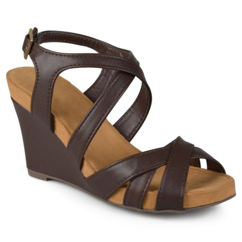 Journee Collection Thea Women's Strappy Wedge Sandals