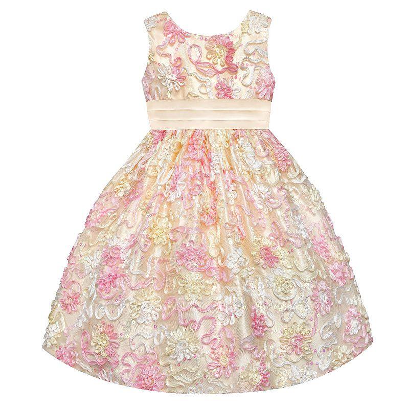 Girls 7-16 American Princess Floral Soutache Dress