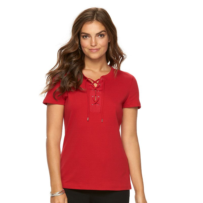 Women's Chaps Lace-Up Tee
