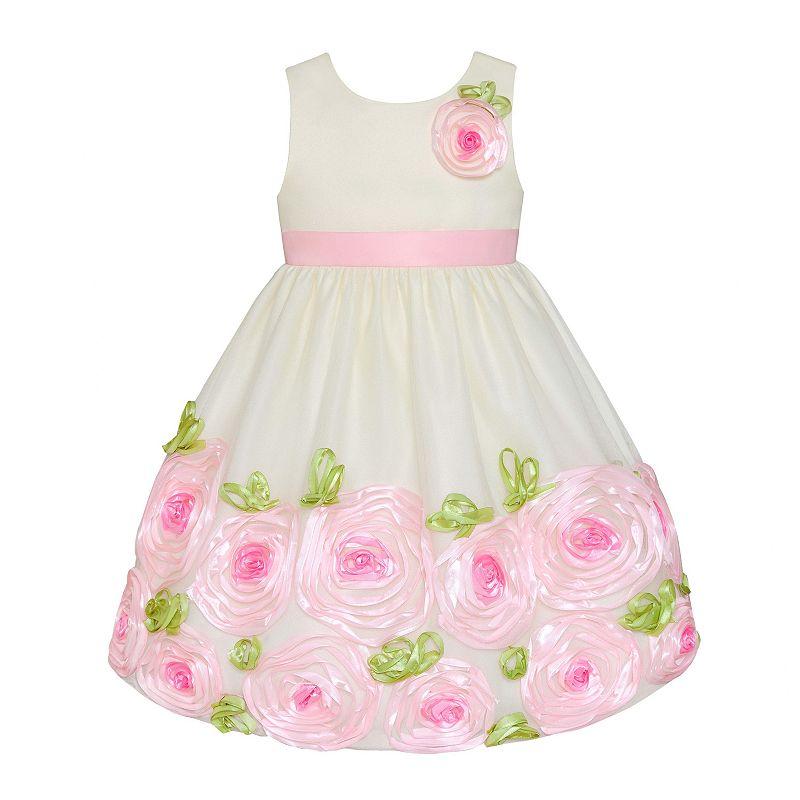 Girls 7-16 American Princess Rosette Border Dress