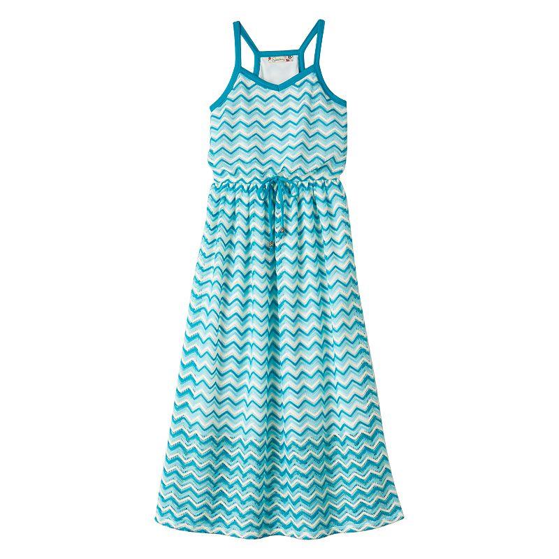 Girls 7-16 & Plus Size Speechless Chevron Lace Maxi Dress