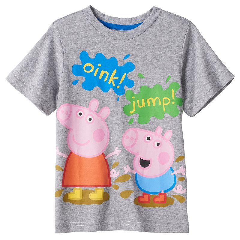Toddler Boy Peppa Pig & George Pig Mud Tee