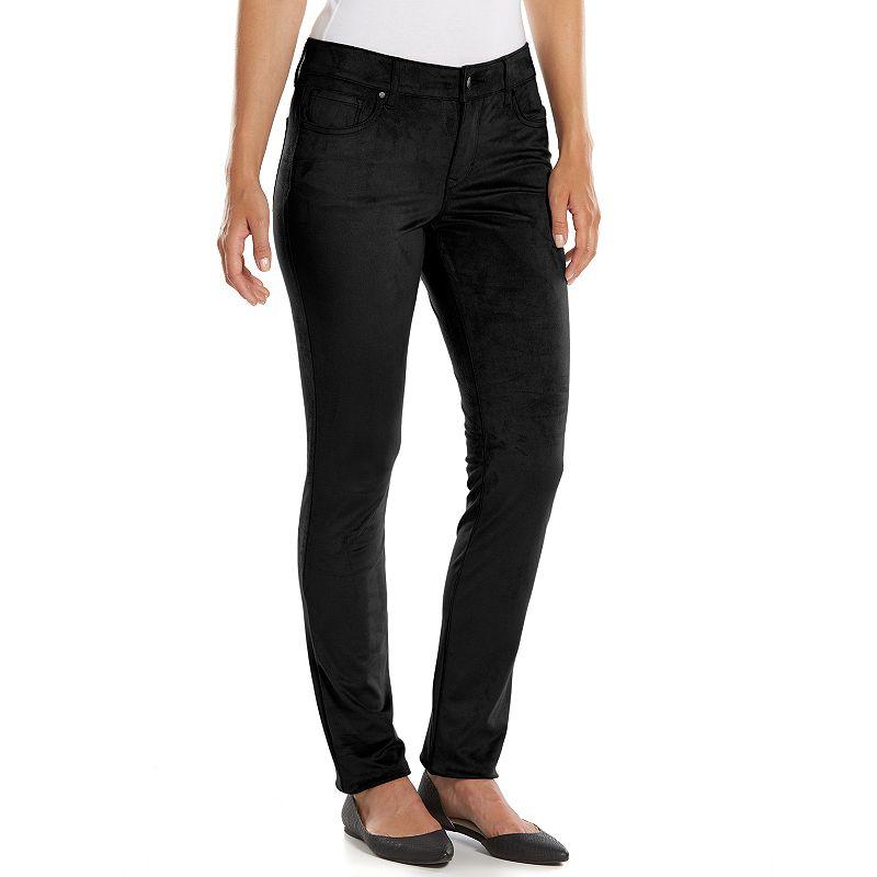 Petite Gloria Vanderbilt Bridget Faux-Suede Skinny Pants