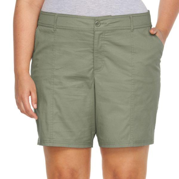 Plus Size Croft & Barrow® Classic Fit Cargo Shorts