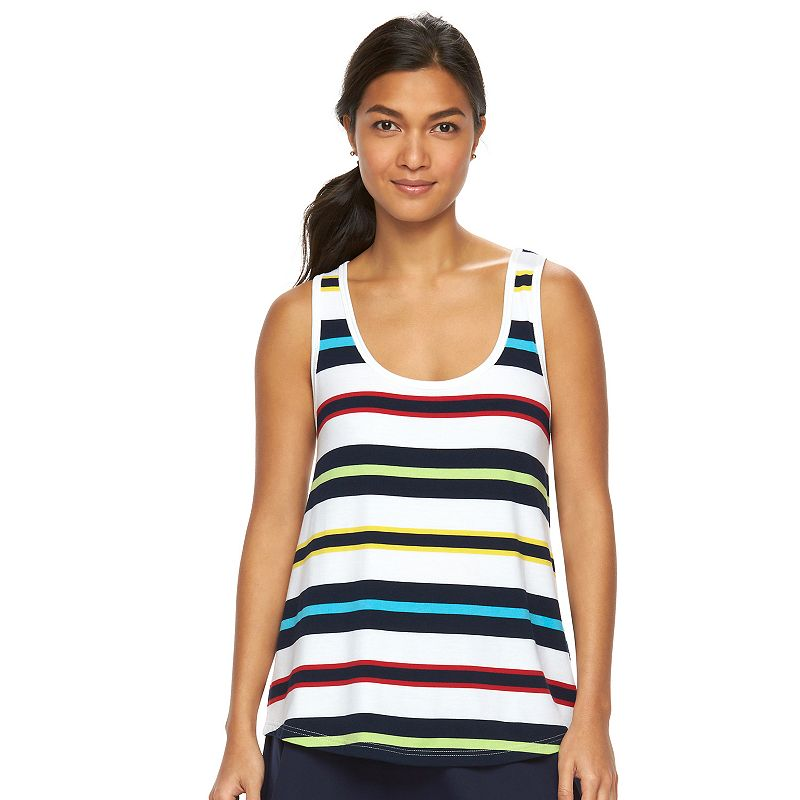Women's Chaps SPORT Striped Racerback Tank