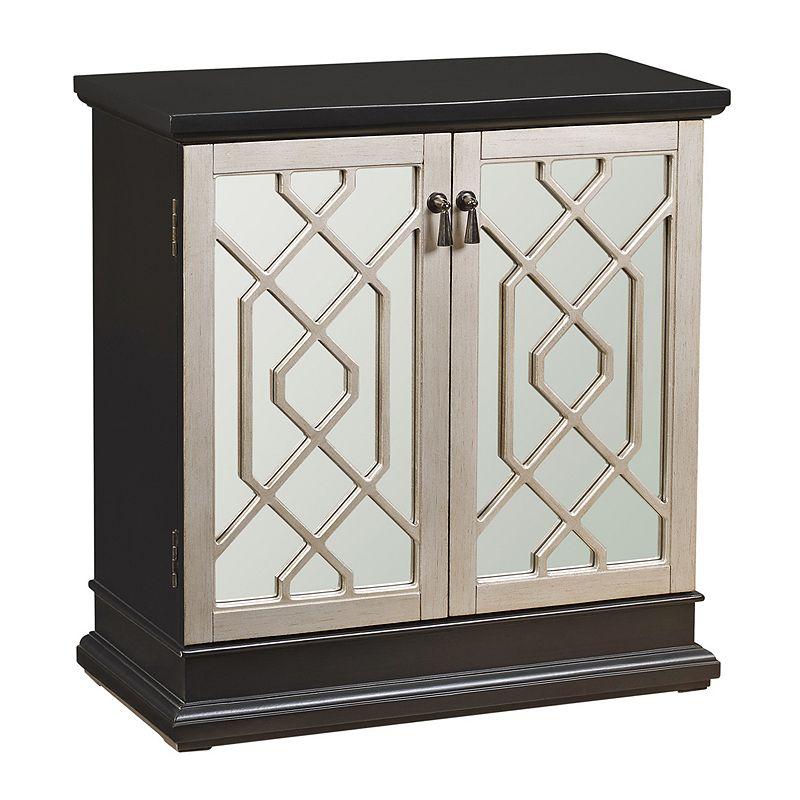 Pulaski Two-Tone Fretwork Storage Cabinet