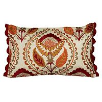 Rizzy Home Embroidered Floral Throw Pillow
