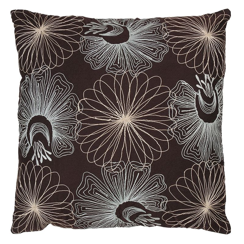 Rizzy Home Glam Floral Throw Pillow