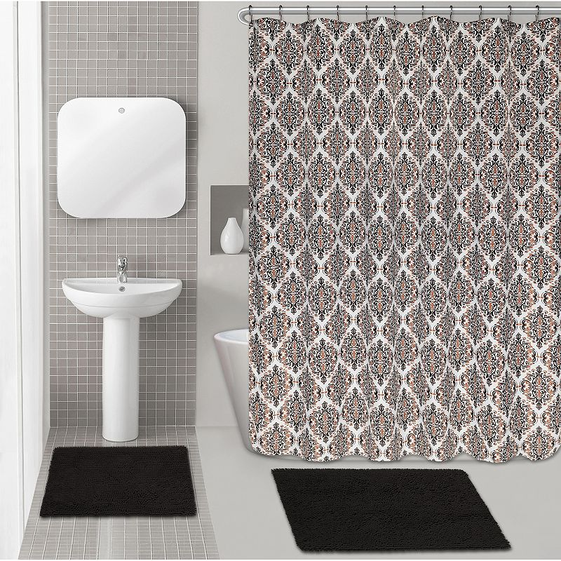 Popular Bath Diamond Chenille 15-piece Bath Set
