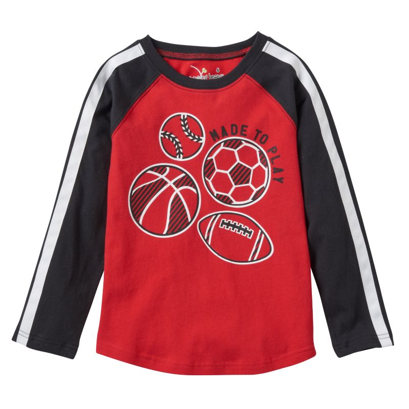 Boys 4-7x Jumping Beans Long Sleeve Sport Graphic Tee, Boy's, Size: 7X, Med Red