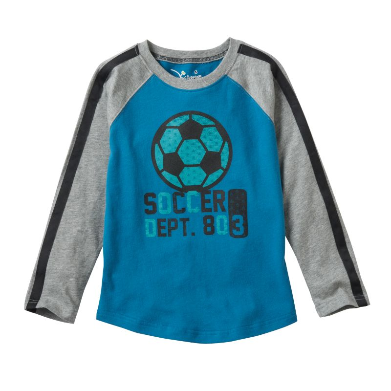 Boys 4-7x Jumping Beans Long Sleeve Sport Graphic Tee, Boy's, Size: 7, Turquoise/Blue (Turq/Aqua)