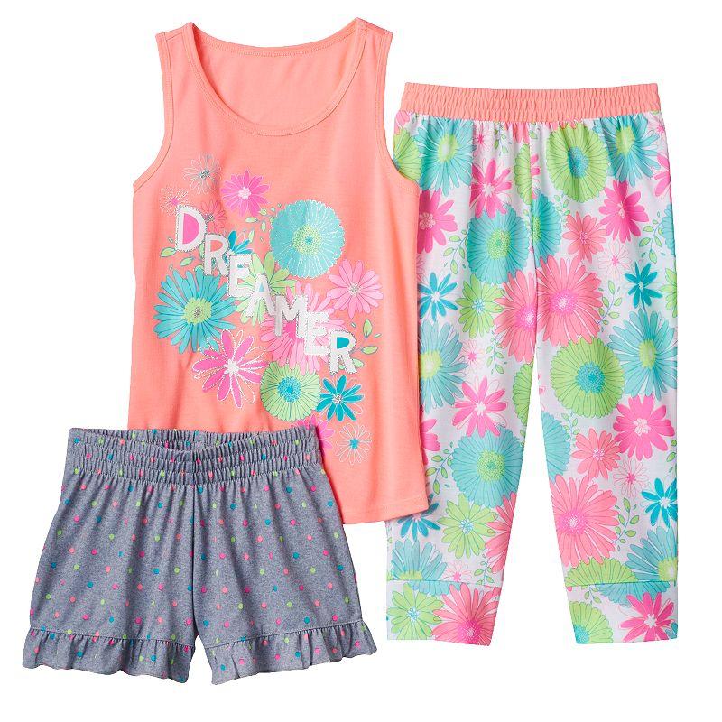 Girls 4-16 SO® Graphic Racerback Tank & Pattern Bottoms Pajama Set