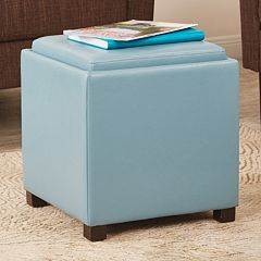 Carter Square Storage Ottoman by