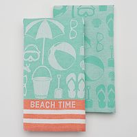 Celebrate Local Life Together Beach Time Kitchen Towel - 2-pk.