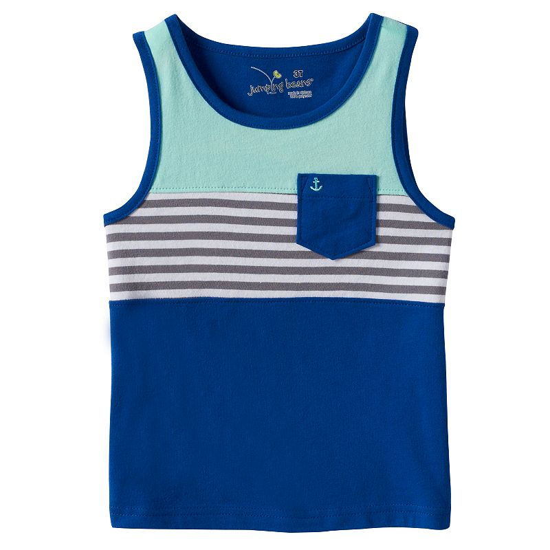 Toddler Boy Jumping Beans® Colorblock Striped Pocket Muscle Tank