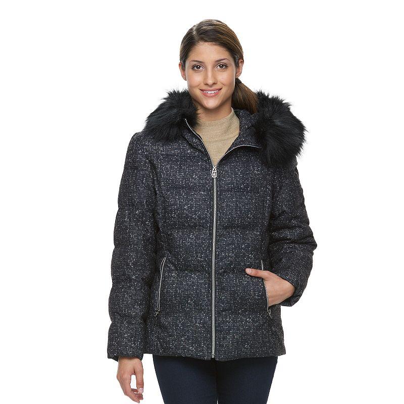 Women's ZeroXposur Powder Hooded Puffer Jacket, Size: XL, Grey (Charcoal)