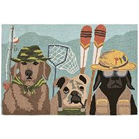 Trans Ocean Imports Liora Manne Frontporch Fishing Patrol Indoor Outdoor Rug