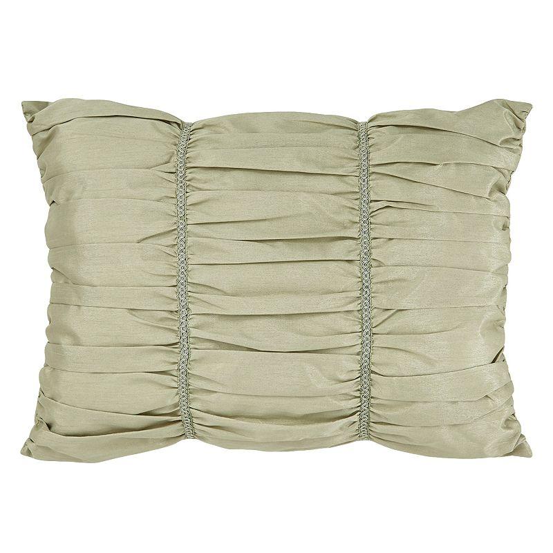 Downton Abbey Crawley Breakfast Gathered Throw Pillow
