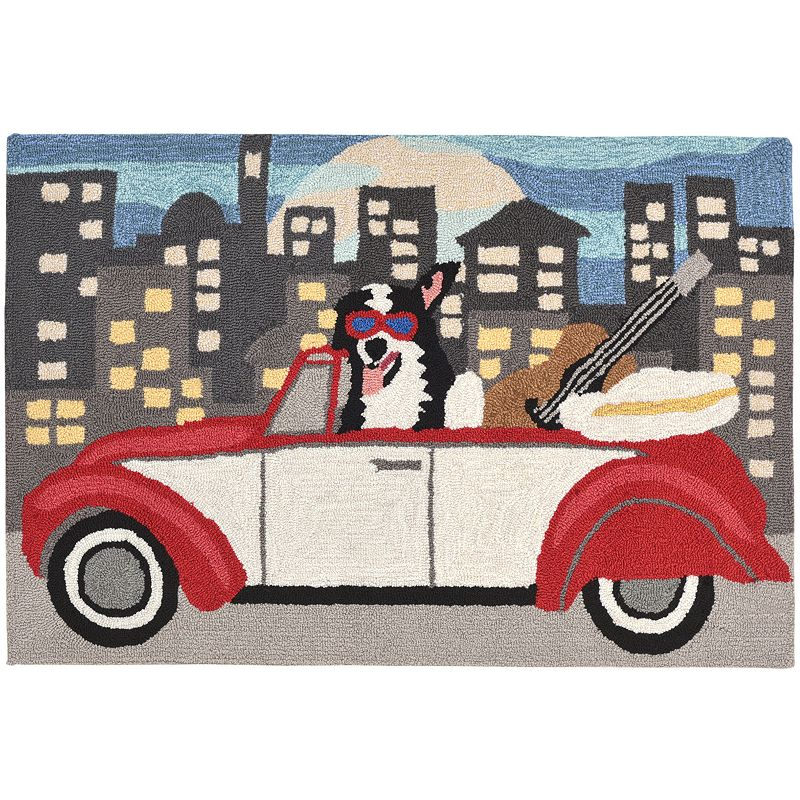 Trans Ocean Imports Liora Manne Frontporch City Dog Indoor Outdoor Rug