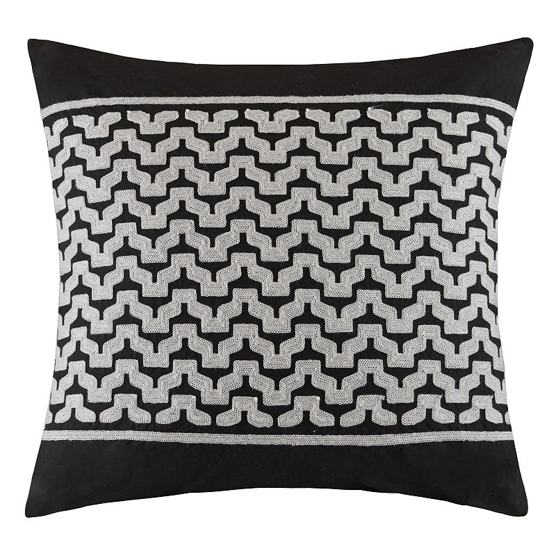 INK+IVY Cheyenne Embroidered Throw Pillow