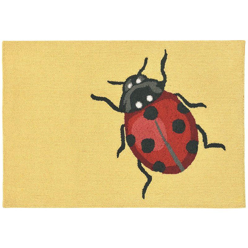 Trans Ocean Imports Liora Manne Frontporch Ladybug Indoor Outdoor Rug