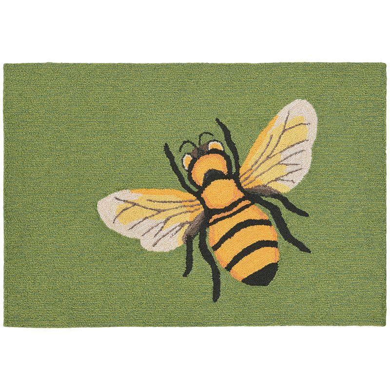 Trans Ocean Imports Liora Manne Frontporch Bee Indoor Outdoor Rug