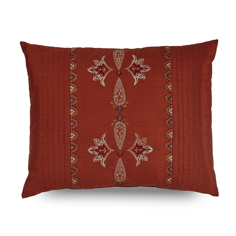 Downton Abbey Grantham Embroidered Pleat Throw Pillow