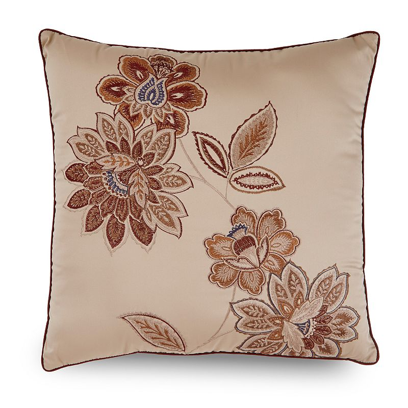 Downton Abbey Grantham Floral Embroidered Throw Pillow