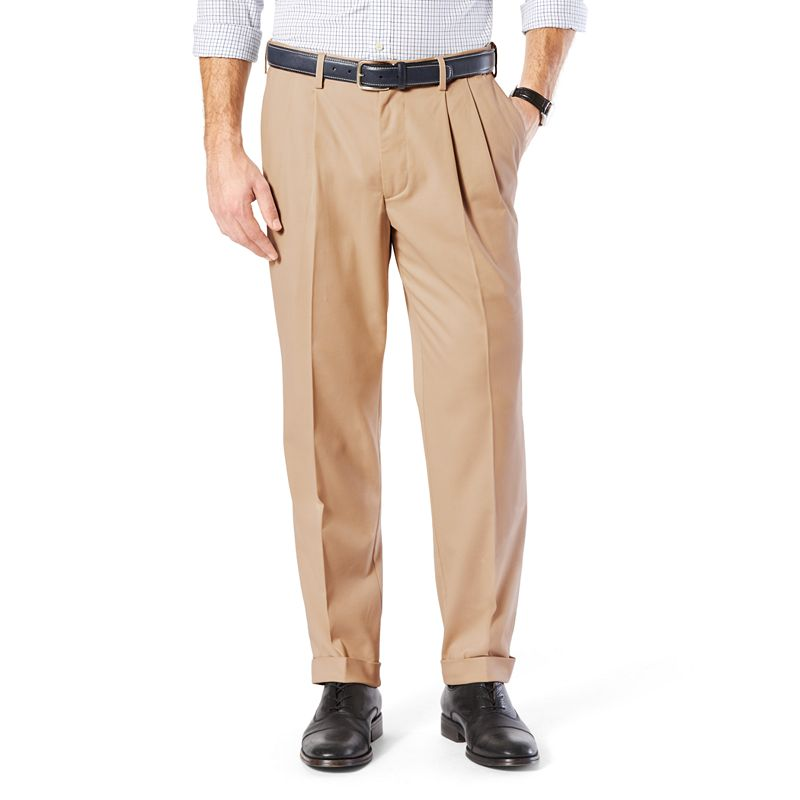 Men's Dockers® Comfort-Waist Stretch Khaki Classic-Fit Pleated Pants