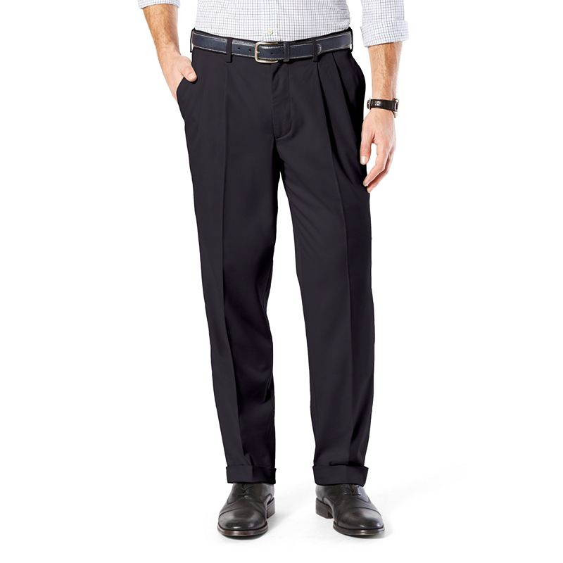 Men's Dockers® Comfort-Waist Stretch Khaki Classic-Fit Pleated Pants